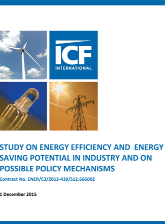 Study on energy efficiency and energy saving potential in industry and on possible policy mechanisms
